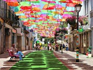 Umbrellas in Aveiro Portugal (1)